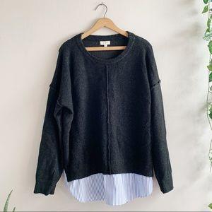 Umgee USA Women's Charcoal Sweater  Sz L